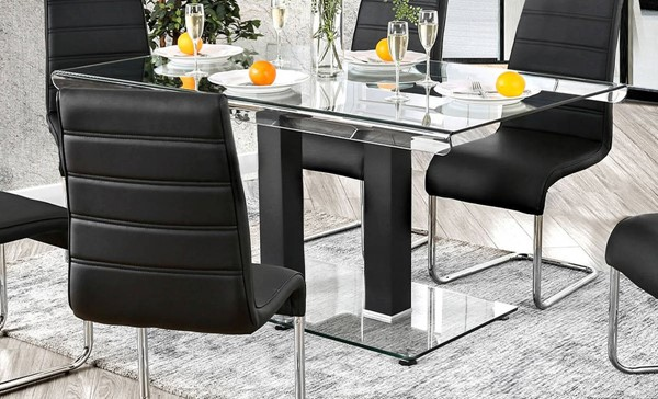 Furniture of America Richfield Dining Table FOA-CM3362BK-T-TABLE