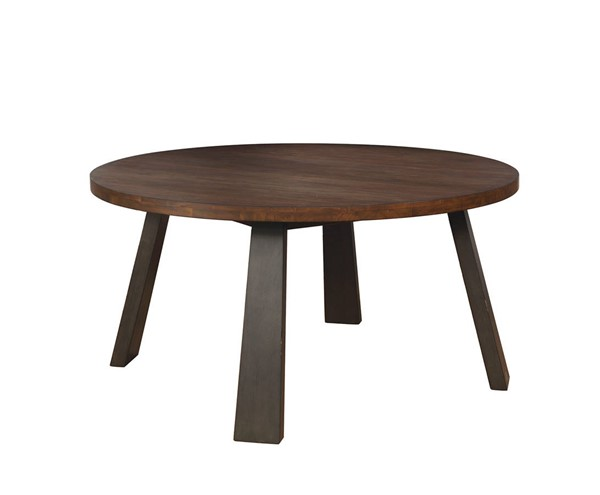 Furniture of America Tolstoy Espresso Round Dining Table FOA-CM3376RT