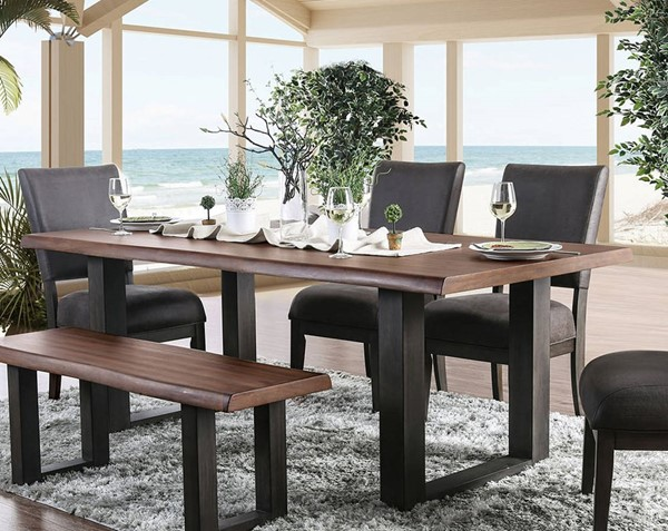 Furniture of America Tolstoy Espresso 82 Inch 7pc Dining Room Set FOA-CM3376T-82-7PC