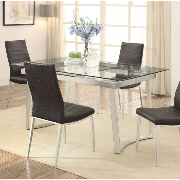 Furniture of America Miriam Silver Dining Table FOA-CM3383T-TABLE