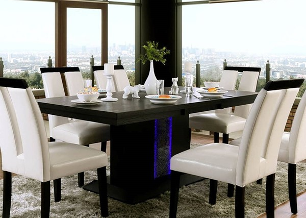Furniture of America Evangeline Black Dining Table FOA-CM3394T