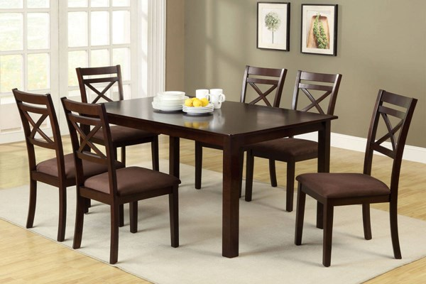 Furniture of America Weston II 7pc Dining Room Set FOA-CM3400T-7PK