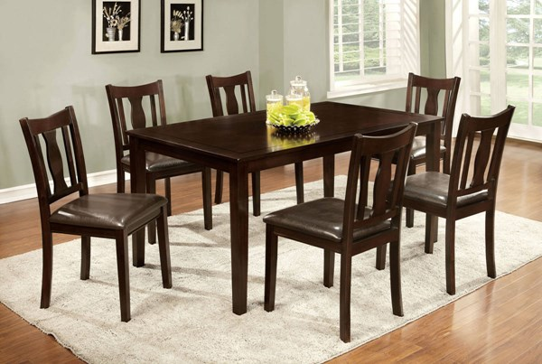 Furniture of America Northvale I 7pc Dining Room Set FOA-CM3402T-7PK