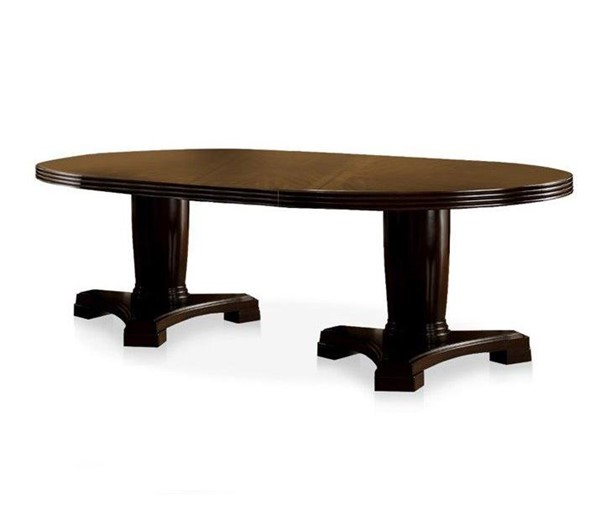 Furniture of America Evelyn Dark Walnut Dining Table FOA-CM3418T-TABLE