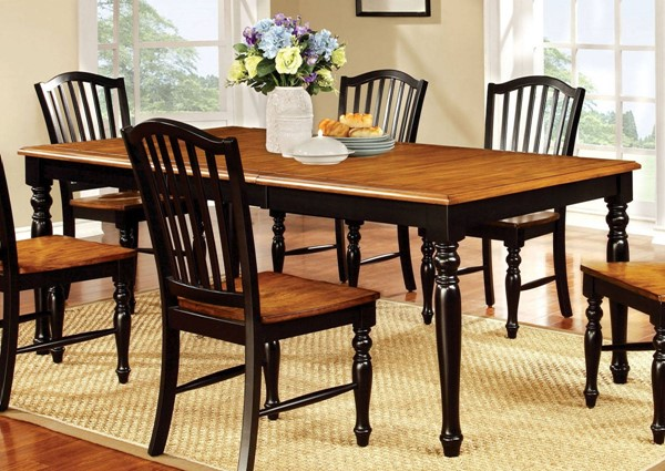 Furniture of America Mayville 18 Inch Leaf Dining Table FOA-CM3431T