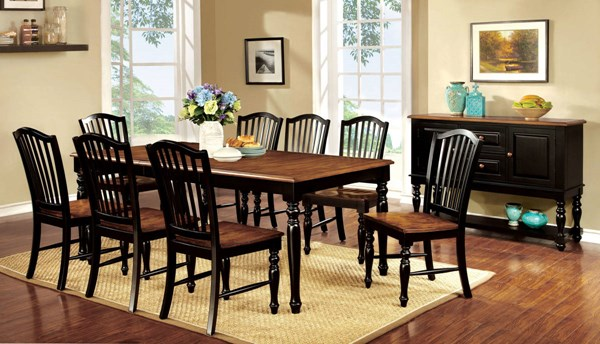 Furniture of America Mayville 9pc Dining Room Set | The Classy Home