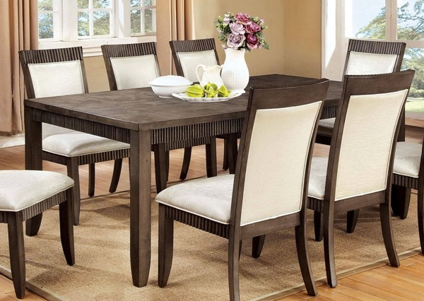 Furniture of America Forbes I 18 Inch Leaf Dining Table FOA-CM3435T