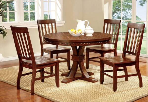 Furniture of America Foster I Round Dining Table FOA-CM3437RT
