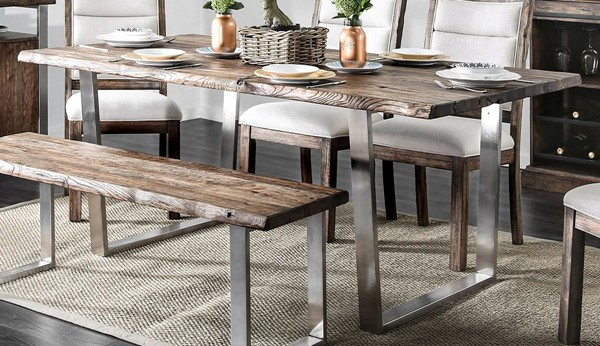 Furniture of America Mandy Antique Mango Dining Table FOA-CM3451A-T-TABLE
