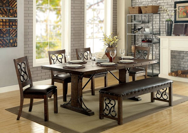 Furniture of America Paulina 6pc Dining Room Set FOA-CM3465T-6PC