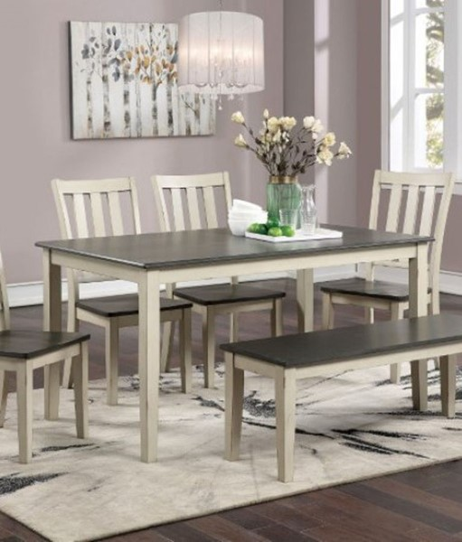 Furniture Of America Frances Antique White Gray Dining Table FOA-CM3478WH-T