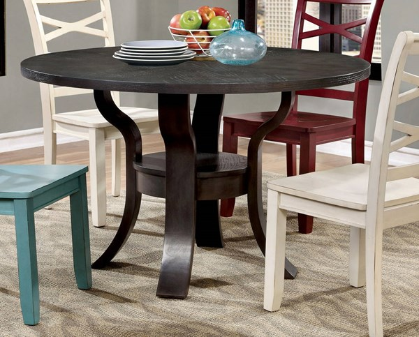 Furniture of America Gisela Round Dining Table FOA-CM3518RT