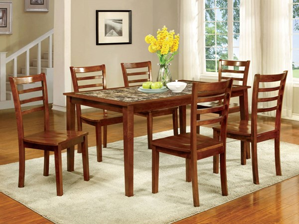 Furniture of America Fordville I 7pc Dining Room Set FOA-CM3521T-7PK
