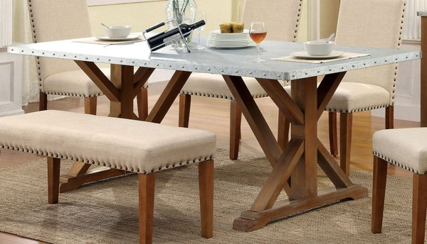 Furniture of America Armous I Iron Top Dining Table FOA-CM3533T