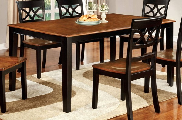 Furniture of America Torrington Black Dining Table FOA-CM3552BC-T