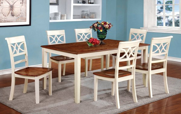 Furniture of America Torrington White Dining Table FOA-CM3552WC-T
