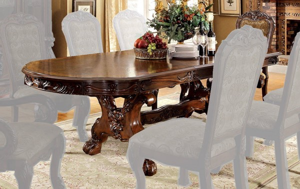 Furniture of America Medieve Cherry Dining Table FOA-CM3557CH-T-TABLE