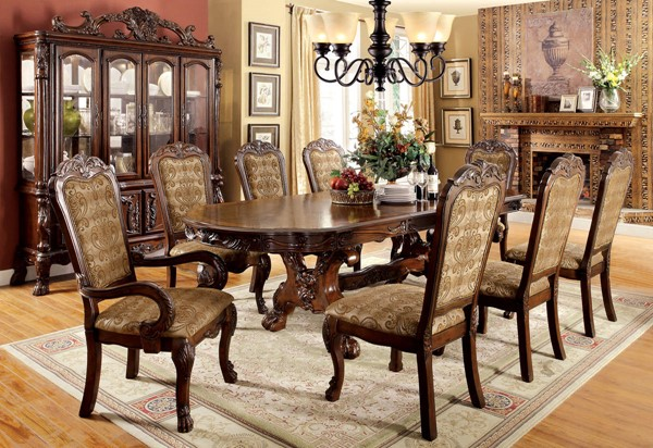 Furniture of America Medieve Dining Tables FOA-CM3557-DT-VAR