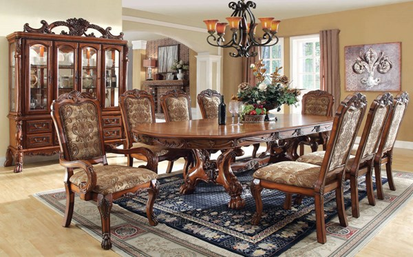 Furniture of America Medieve Antique Oak Dining Table FOA-CM3557T-TABLE