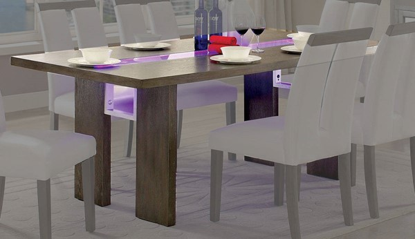 Furniture of America Luminar I Dining Table FOA-CM3559GY-T
