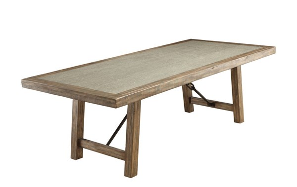 Furniture of America Colette Rustic Oak 92 Inch Dining Table FOA-CM3562T