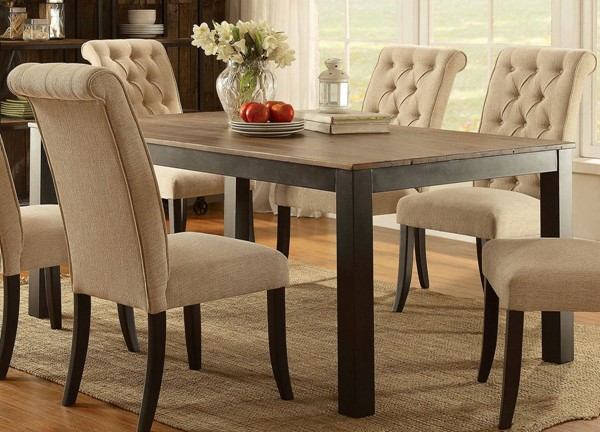 Furniture of America Marshall Rustic Oak Dining Table FOA-CM3564T