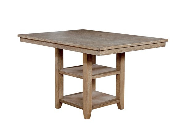 Furniture of America Ledyard Rustic Natural Counter Height Table FOA-CM3576PT