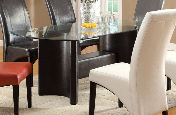 Furniture of America Madison Glass Top Dining Table FOA-CM3578T-TABLE
