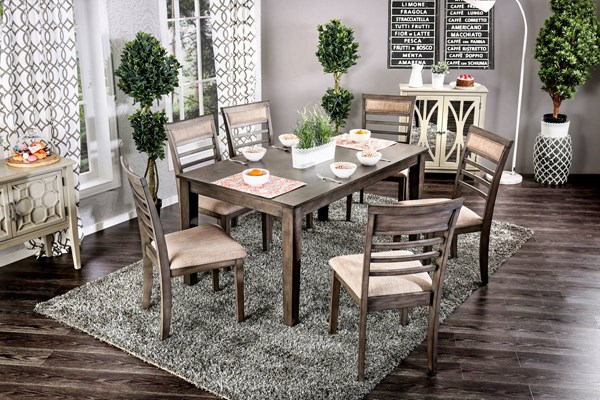 Furniture of America Taylah 7pc Dining Room Set FOA-CM3607T-7PK