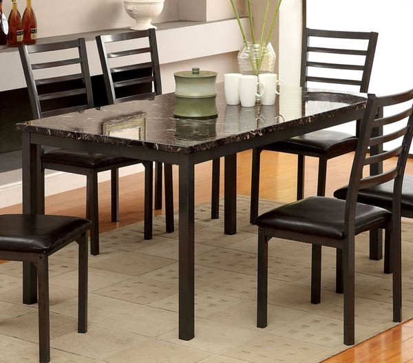 Furniture of America Colman 60 Inch Dining Table FOA-CM3615T-60