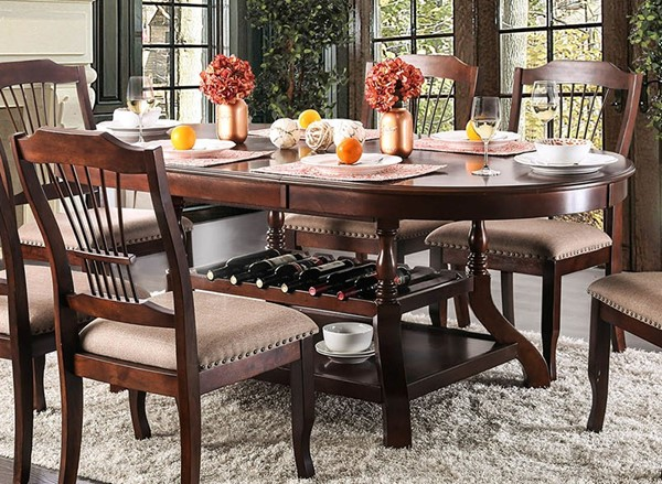 Furniture of America Jordyn Brown Cherry Dining Table FOA-CM3626T