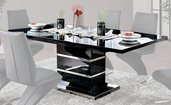 Furniture of America Midvale Black Dining Table FOA-CM3650BK-T-TABLE