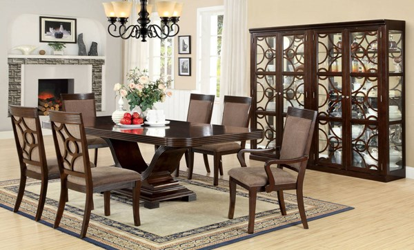 Furniture of America Woodmont Dining Table FOA-CM3663T-TABLE