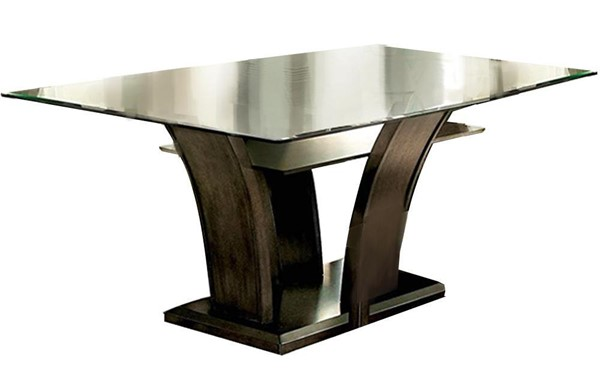 Furniture of America Manhattan I Gray Dining Table FOA-CM3710GY-T-TABLE