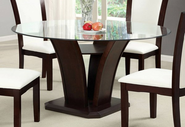 Furniture of America Manhattan I Dark Cherry Round Dining Table FOA-CM3710RT-TABLE