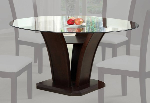 Furniture of America Manhattan I Brown Cherry Round Dining Table FOA-CM3710RT-TABLE
