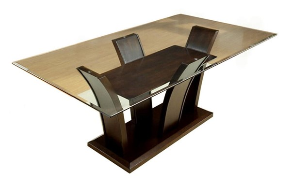Furniture of America Manhattan I Brown Cherry Dining Table FOA-CM3710T-TABLE
