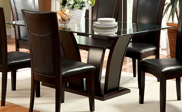 Furniture of America Manhattan I Dark Cherry Dining Table FOA-CM3710T-TABLE