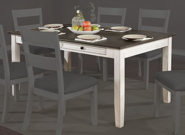 Furniture Of America Anadia White Gray Dining Table FOA-CM3715T
