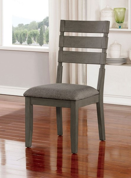 2 Furniture Of America Viana Light Gray Side Chairs FOA-CM3716SC-2PK