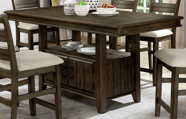 Furniture Of America Rigby II Light Walnut Counter Height Table FOA-CM3719PT-TABLE