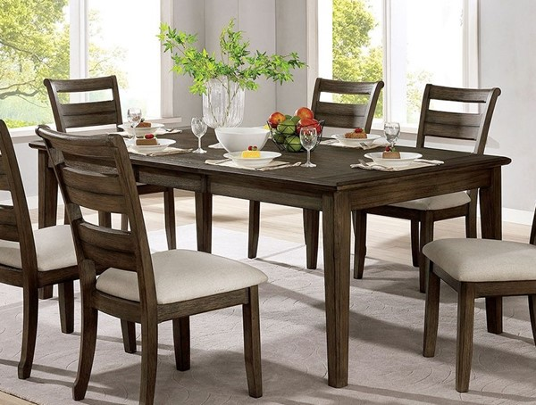 Furniture Of America Rigby Light Walnut Dining Table FOA-CM3719T