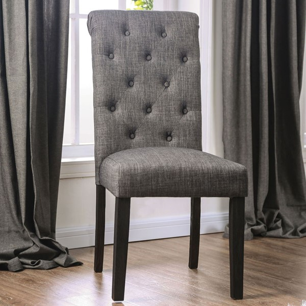 Furniture Of America Alfred Antique Black Gray Side Chairs FOA-CM3735-2PK-VAR