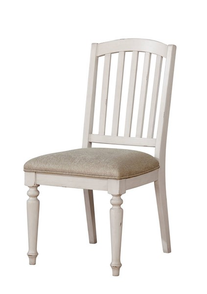 2 Furniture of America Summer Antique White Side Chairs FOA-CM3753SC-2PK