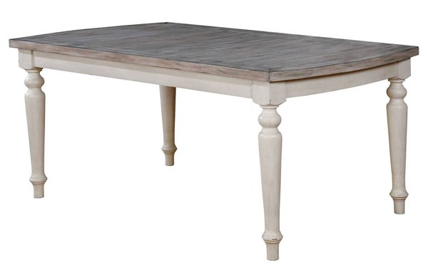 Furniture of America Summer Antique White Dining Table FOA-CM3753T