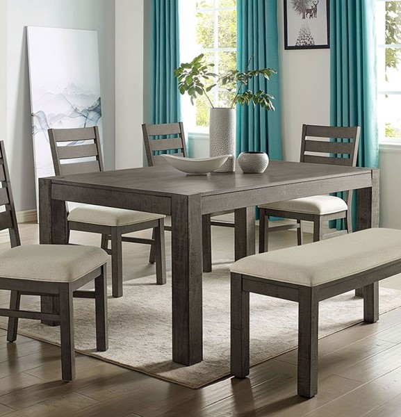 Furniture of America Clary Gray Dining Table FOA-CM3793T