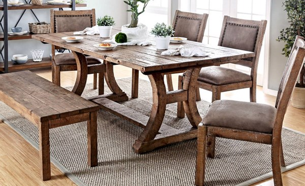 Furniture of America Gianna 77 Inch Dining Table FOA-CM3829T-77-TABLE