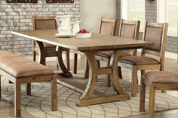 Furniture of America Gianna 96 Inch Dining Table FOA-CM3829T-TABLE