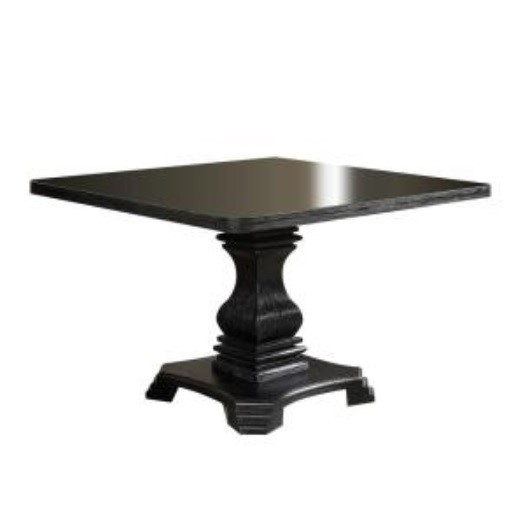 Furniture of America Nerissa Antique Black Square Dining Table FOA-CM3840T-48-TABLE