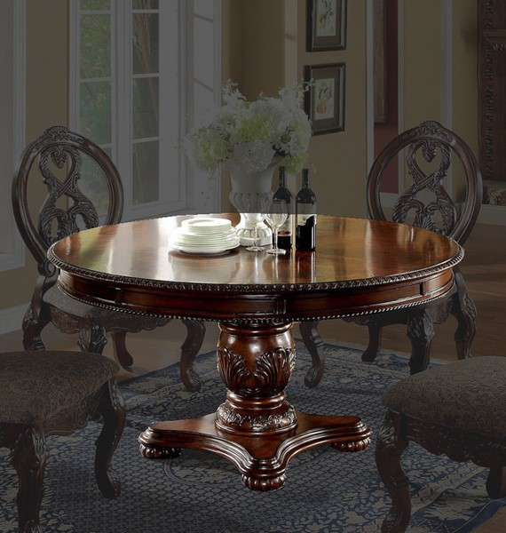 Furniture of America Tuscany I Antique Cherry Round Dining Table FOA-CM3845CH-RT-TABLE